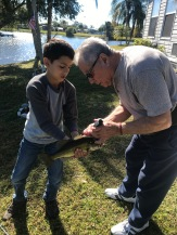 Abuelo - passing on fishing skills