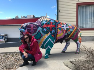 Custer Town and its local Buffalo Art