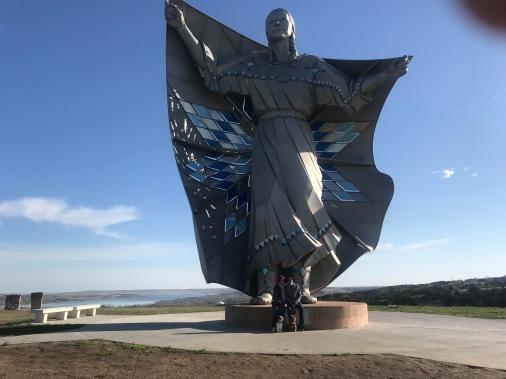 Dignity: Native American Statue (South Dakota - Chamberlain Rest Area- on I90)