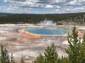 Grand Prismatic Spring (from Bird-Eye Overlook)