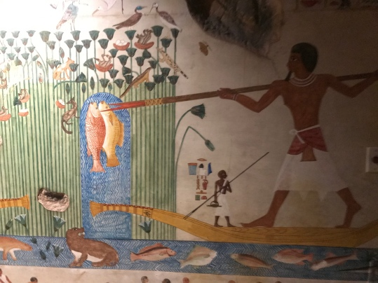 "Wall painting inside the tombs to provide the ""picture of the perfect after life"""